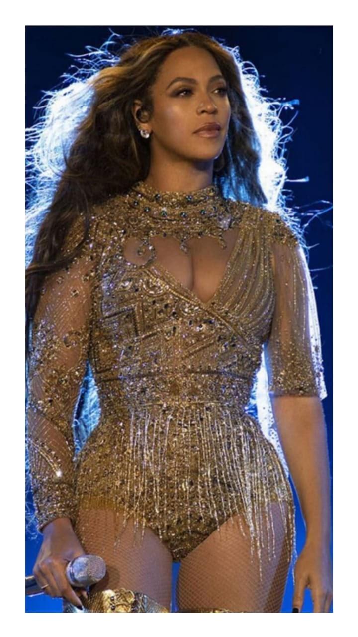 Beyonce Falguni Shane Peacock bodysuit