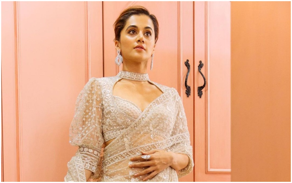 Tapsee Pannu in an embroidered ivory
